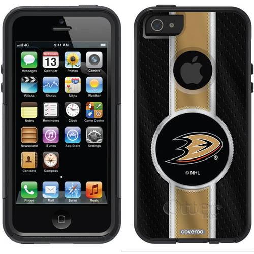 Anaheim Ducks Jersey Stripe Design on OtterBox Commuter Series Case for Apple iPhone 5/5s