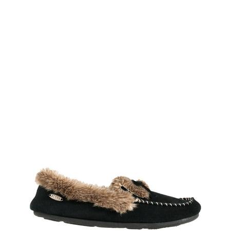 ACORN Women's Cozy Faux Fur Moc Slippers