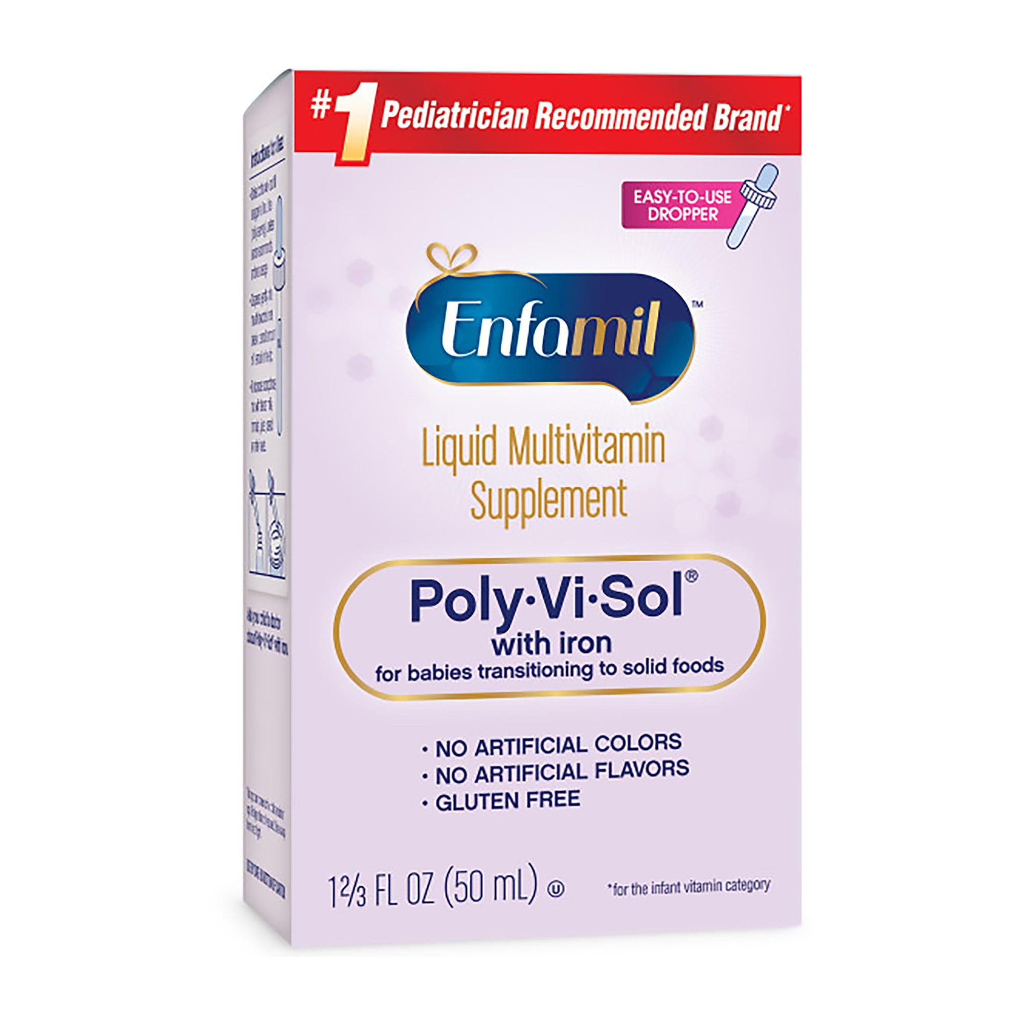 Enfamil Poly-Vi-Sol with Iron, Liquid Multivitamin Infant Supplement, 1.67 fl oz (50 mL)