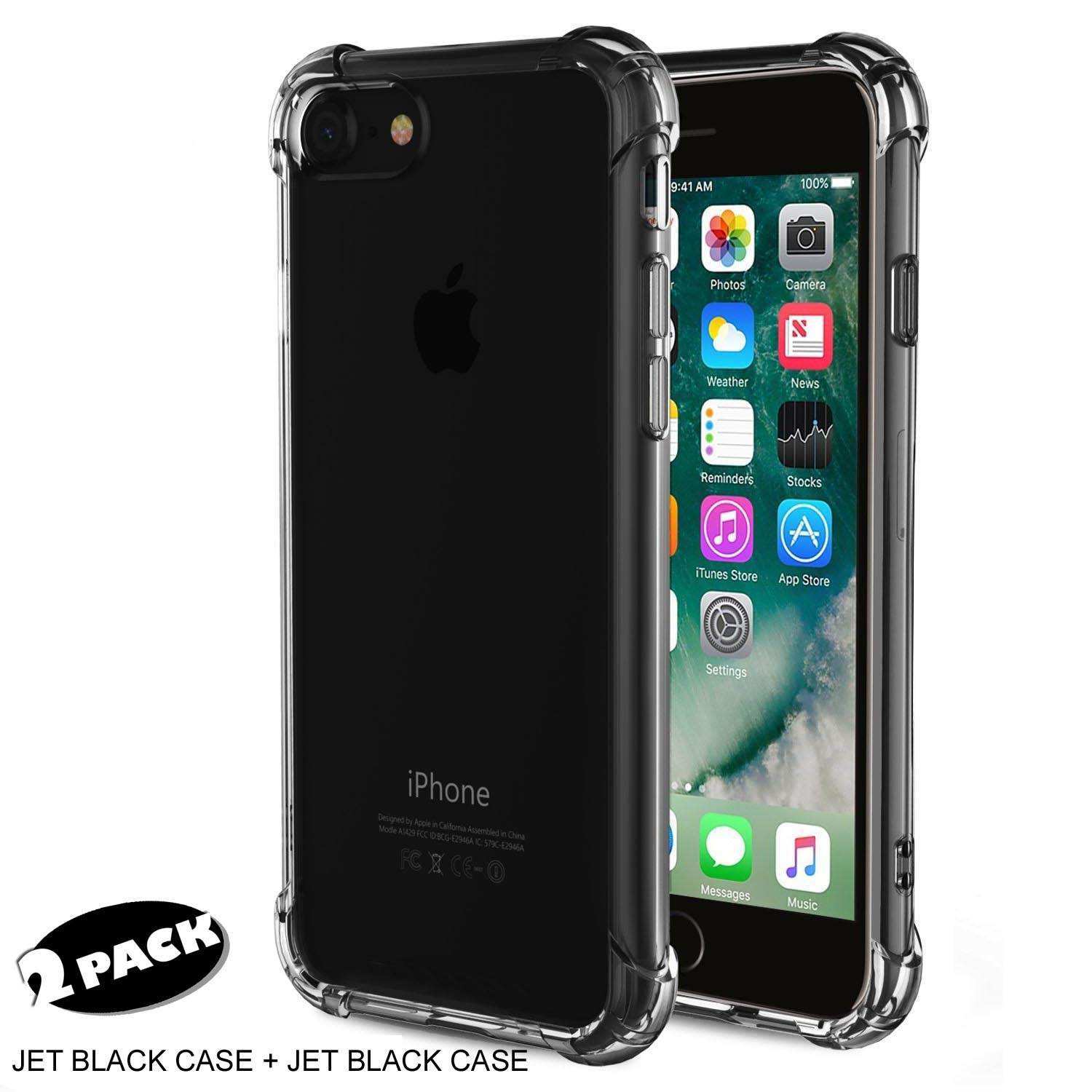 ME [2-Pack] Advanced Impact and Scratch Resistant Flexible TPU Slim Bumper Cases for iPhone 7