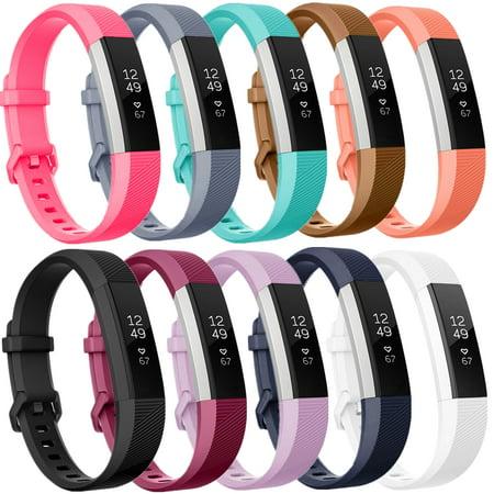 Moretek for Fitbit Alta & Alta HR Strap Bands Pack of 10 Large