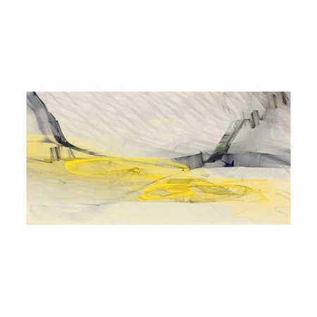 Abstraction 10686 Grey Gray and Yellow Abstract Print Wall Art By Rica Belna ()