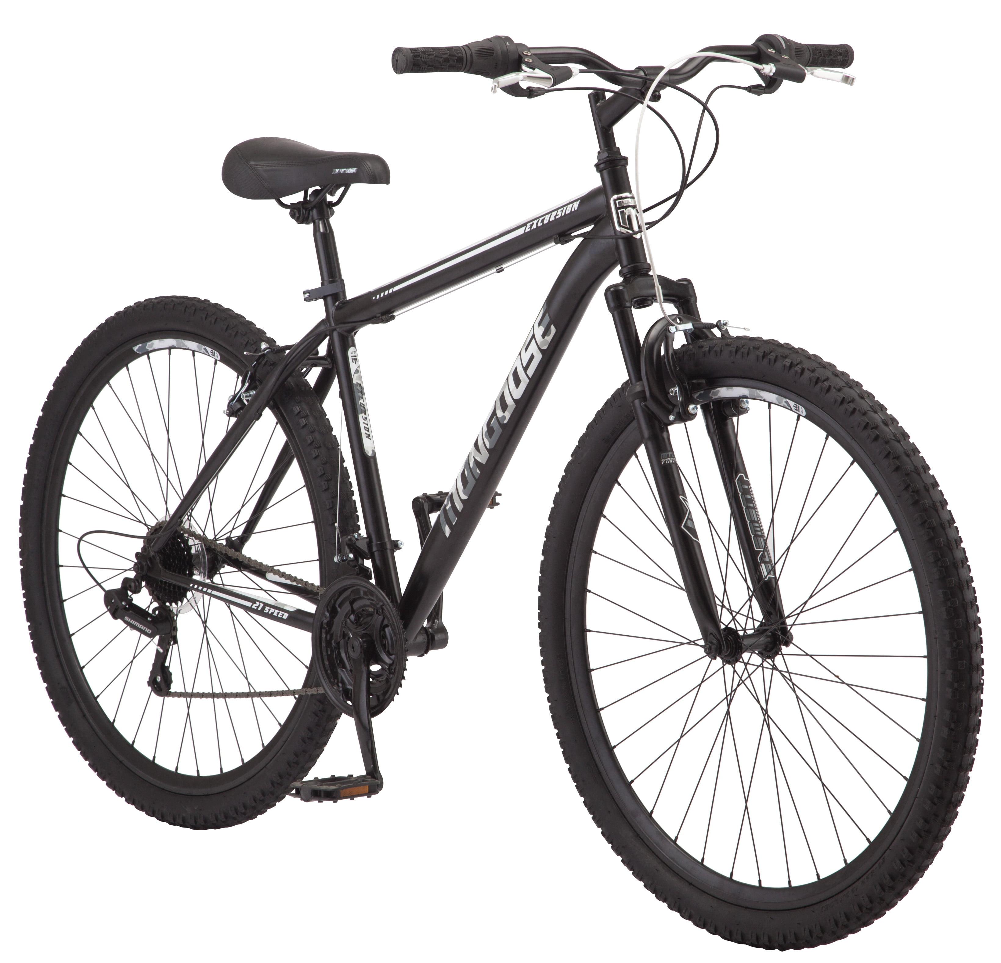 "Mongoose 29"" Excursion Men's Mountain Bike, Black"