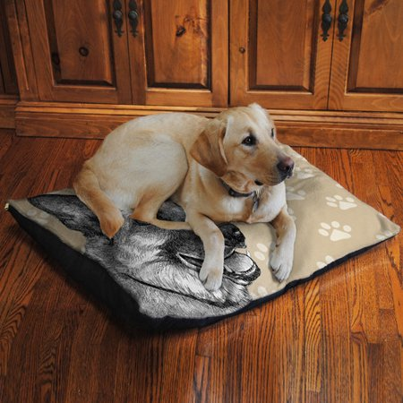 Laural Home German Shepherd Fleece Dog Bed Walmartcom