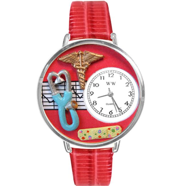Whimsical Gifts U-0620053 Nurse 2 Red Watch In Silver Large
