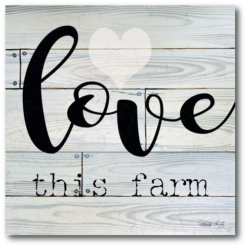 Courtside Market 'Love This Farm' Textual Art on Wrapped Canvas
