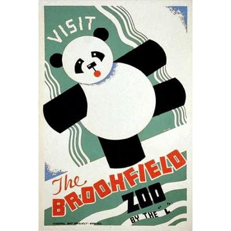 Visit the Brookfield Zoo by the L - Panda Poster Print by Arlington (Visit Brookfield Zoo)