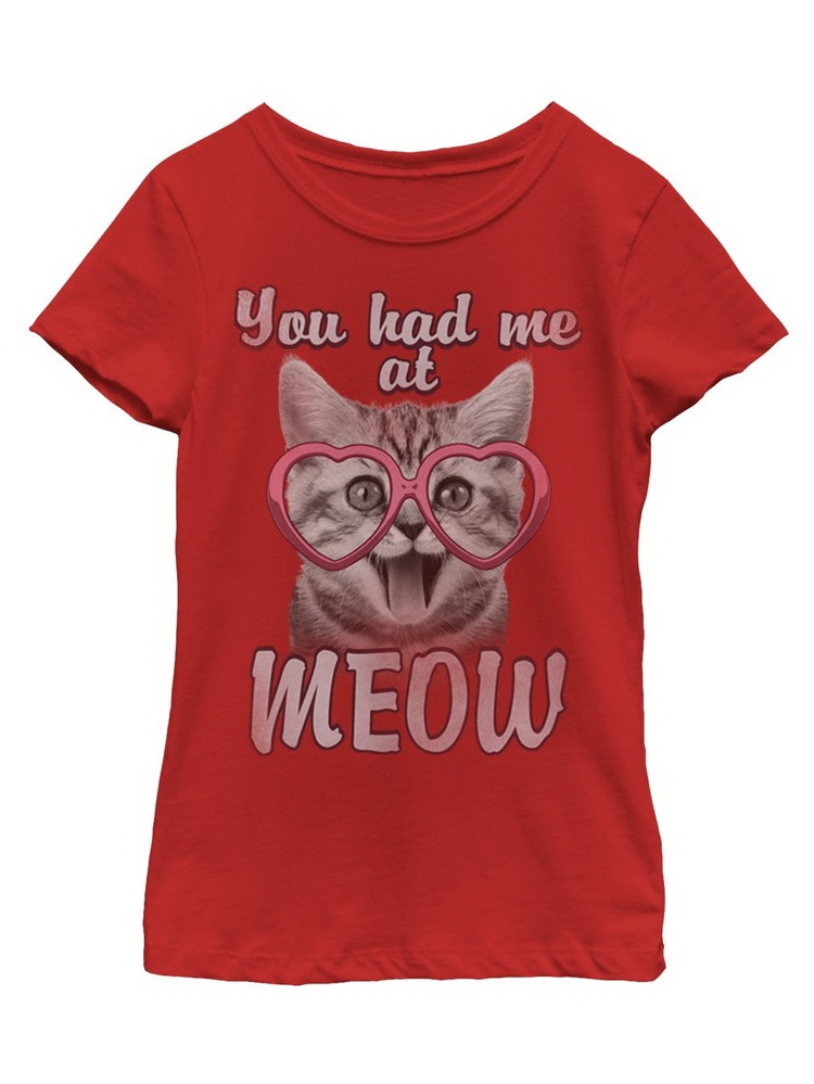 Girls' You Had Me at Meow T-Shirt