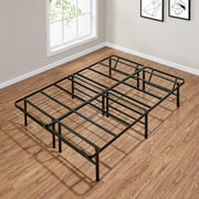 """Mainstays 14"""" High Profile Foldable Steel Bed Frame, Multiple Sizes, Multiple Colors"""