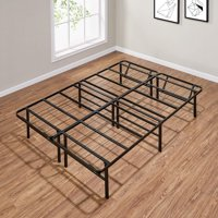 "Mainstays 14"" High Profile Foldable Steel Bed Frame, Multiple Sizes, Multiple Colors"