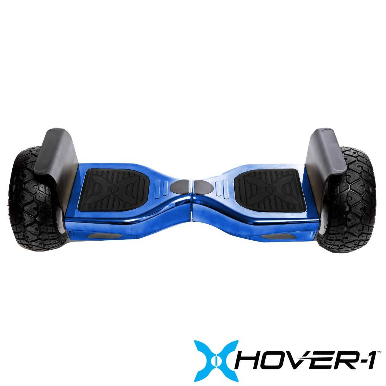 Hover-1 Nomad UL Certified Electric Hoverboard w/ 10 Wheels, LED Lights, Bluetooth Speaker, and App Enabled - Blue