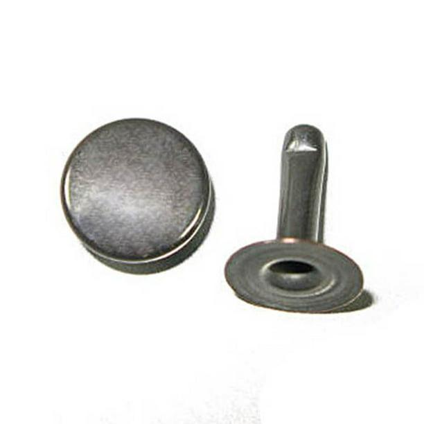 Double Cap Rapid Rivets 11mm 10mm Post 100 Pack Gunmetal Walmart Com