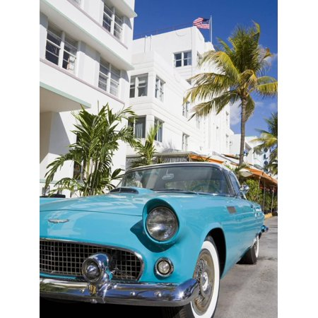 Avalon Hotel and Classic Car on South Beach, City of Miami Beach, Florida, USA, North America Print Wall Art By Richard Cummins](Party City South Beach)