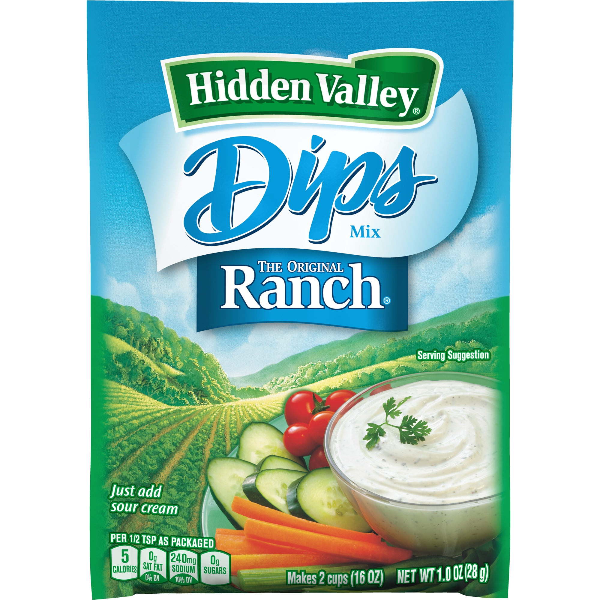 Hidden Valley Original Ranch Dips Mix, Gluten Free - 1 Packet