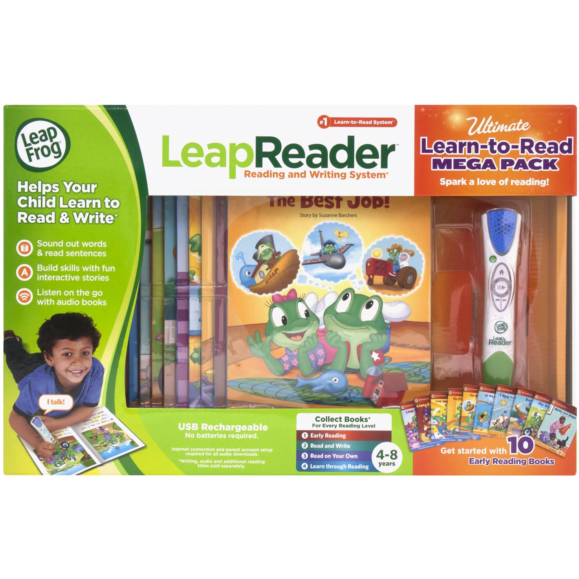 For older kids, LeapFrog has a great variety of learning tools in different platforms, from Learning tablets to reading and gaming systems: LeapPad Ultra, LeapReader, LeapPad2, LeapsterGS Explorer, LeapReader Junior, Leapster Explorer.