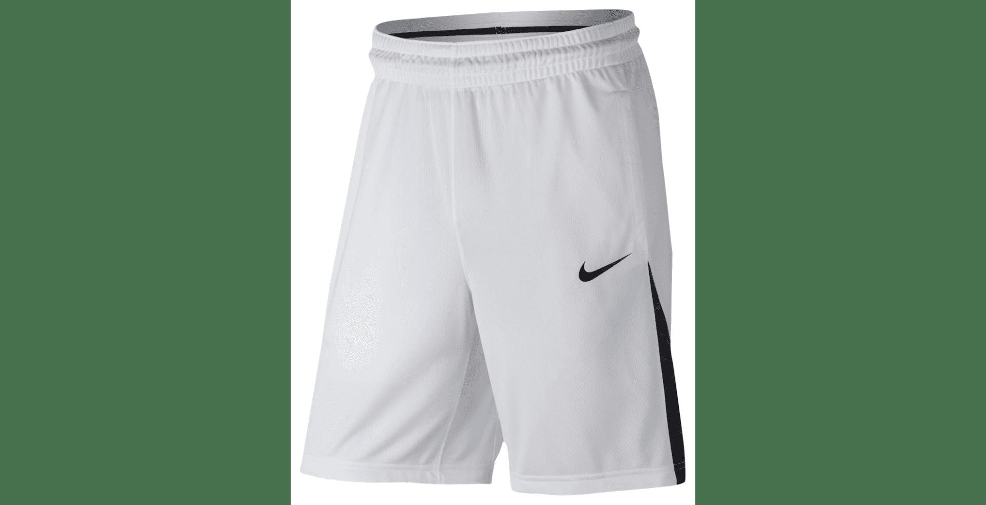 Nike 868935-100: New 3 Point Men Basketball Shorts White Black (L, Black White) by Nike