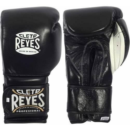 Cleto Reyes Hook and Loop Boxing Gloves, 14oz, Black