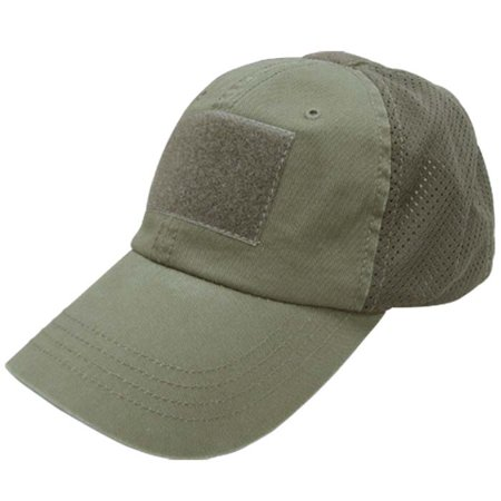 Condor OLIVE DRAB Mesh Tactical Cap / Hat (Tactical Hat With Patch)