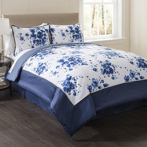 Wildon Home  Indigo 4 Piece Full Comforter Set