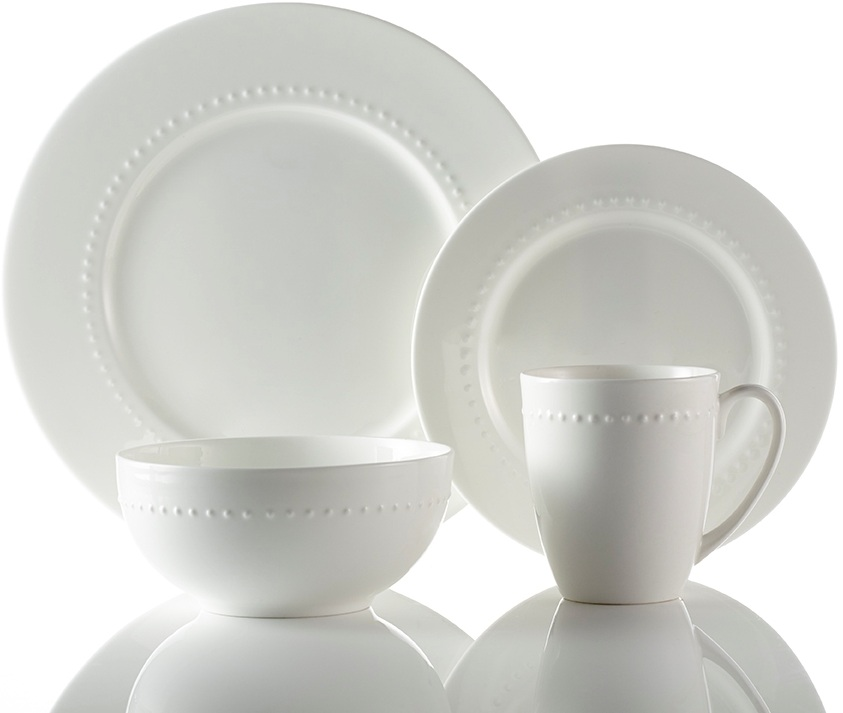 Roscher 32-Piece Hobnail Bone China Dinnerware. Microwave and Dishwasher Safe High Quality  sc 1 st  Walmart & Roscher 32-Piece Hobnail Bone China Dinnerware. Microwave and ...