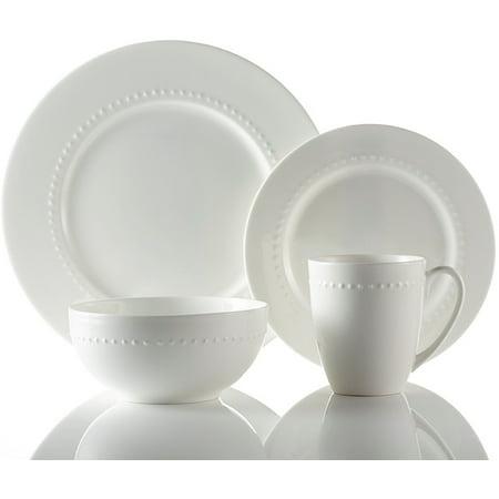 Roscher 32-Piece Hobnail Bone China Dinnerware. Microwave and ...