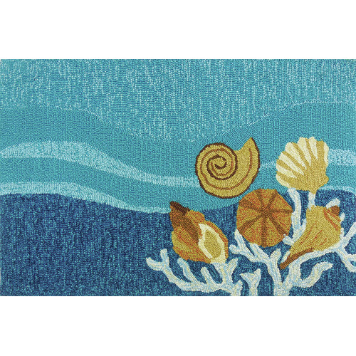 Homefires Shell Turquoise Area Rug