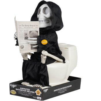 Animated Bathroom Reaper Halloween Decoration
