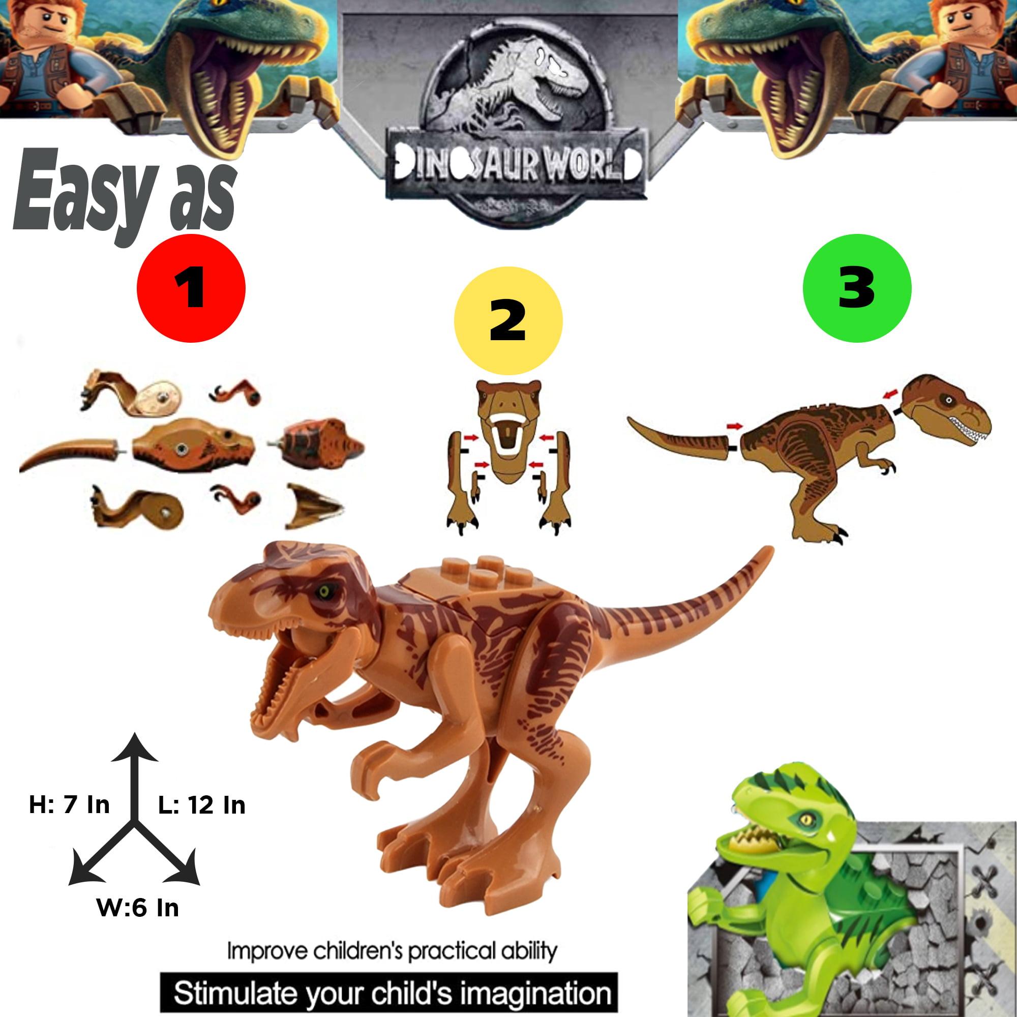 Triceratops Boys and Girls Creative Dinosaur Building Set Take Apart Dino Action Figures Kididdo Dinosaur Building Blocks 12 PCS T-Rex Velociraptor