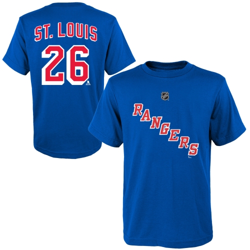 Martin St. Louis New York Rangers Reebok Youth Name and Number Player T-Shirt - Blue