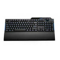Wired Full-Size Multimedia Gaming Keyboard with 7-Color LED Backli GHzt, Wrist Rest