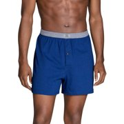 Fruit of the Loom Men's Dual Defense Assorted Knit Boxers, 4 Pack, Extended Sizes