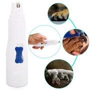Electric Nail Grinder For Dogs and Cats Plastic Claw Care Electric Nail Clipper For Pet Dog White