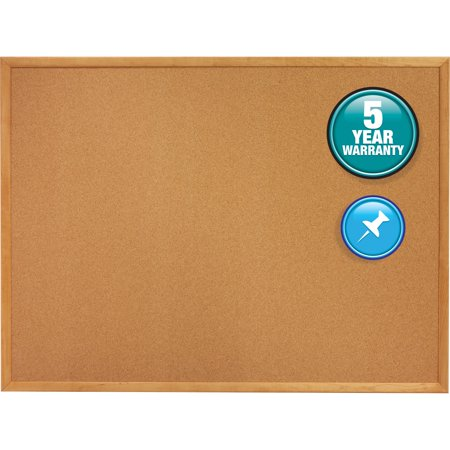 Oak Enclosed Bulletin Board - Quartet, QRT303, Oak Frame Standard Cork Bulletin Boards, 1 / Each