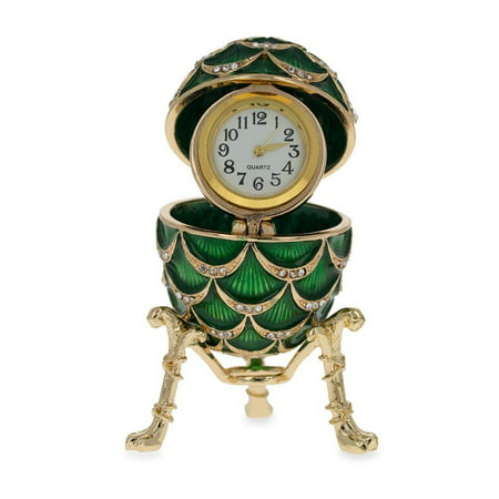 Royal Inspired Pinecone Russian Egg with Clock 2.7 Inches](Pinecone Jewelry)