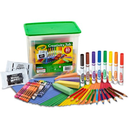 Crayola Creativity Tub, 80 pieces