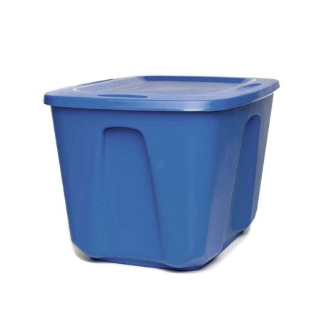 Homz 18 Gallon Storage Container, Cobalt Blue, Set of