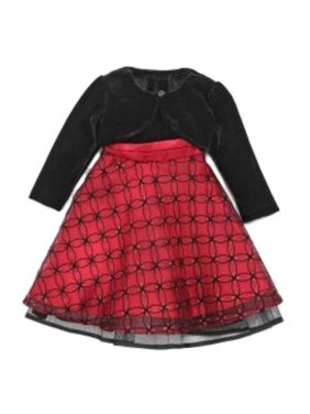 5d68184c023b Product Image Blueberi Infant Toddler Girl Sparkly Red Sequin Party Dress  Holiday Capelet
