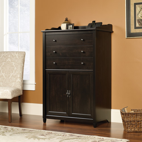 Sauder Edge Water SmartCenter Secretary, Estate Black Finish