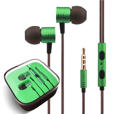 3.5mm Headphones In-Ear Earbuds Afflux Universal Stereo Headset Earphones For Cellphone Tablet iPhone 6 6S 5S SE 6/6S Plus Earbuds iPod iPad Samsung Galaxy S9 S8 S7 S6 Note 5 - Cell Phone Earbud Stereo Headset