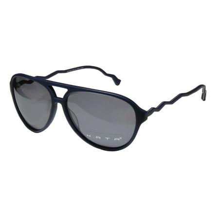 New Kata Bolt 5 Mens/Womens Aviator Full-Rim 100% UVA & UVB Navy Unique Design Colorful Aviator Shades Made In Japan Frame Gray Lenses 58-13-135 Sunglasses/Shades ()