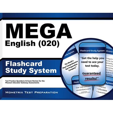MEGA English (020) Flashcard Study System: MEGA Test Practice Questions &  Exam Review for the Missouri Educator Gateway Assessments