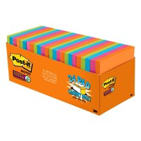 """Post-it Super Sticky Notes,3"""" x 3"""", Rio de Janeiro Collection, 24 Pads"""