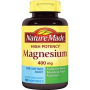 NATURE MADE Magnesium, 400 mg, Extra Strength, Softgels, 150.0 CT