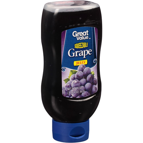 Great Value Squeezable Grape Jelly, 20 oz