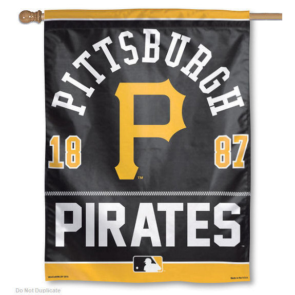 Pittsburgh Pirates Official MLB 27 inch  x 37 inch  Banner Flag by Wincraft