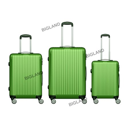 3 Pcs ABS Hard Suitcase Spinner Set Travel Bag Trolley Wheels Luggage Sets Coded Lock