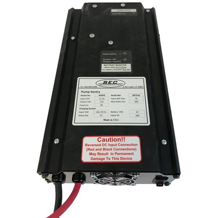 American Battery - 433 PS - 600 Watts Battery Backup for Pumps by SEC America