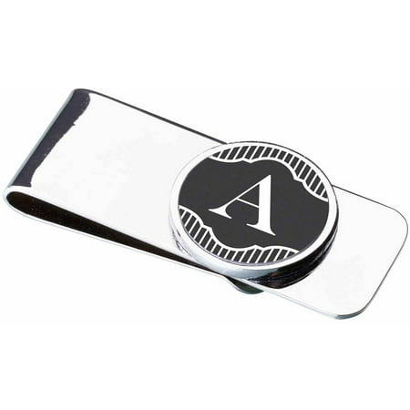 Money Clip, Black Band Monogram, A