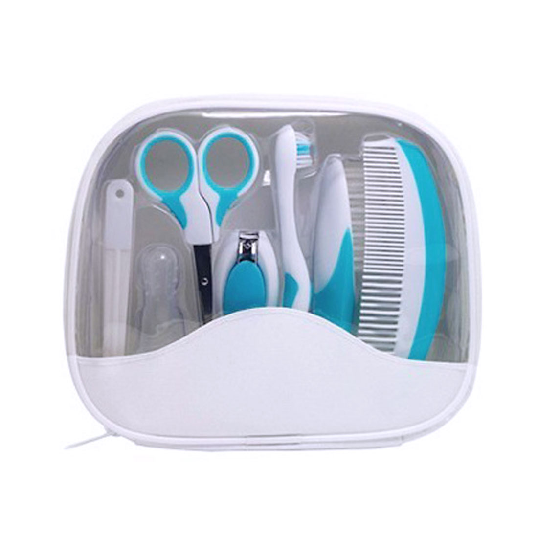 Newborn Infant Baby Toothbrush Nail Clipper Hair Comb Brush Care Grooming Set