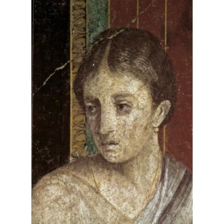 Wall Painting  (Detail)  c 60-50 BC  Artist Unknown Fresco  Roman Villa of the Mysteries Pompeii Canvas Art -  (24 x 36) ()